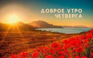 Пожелания доброго утра четверга