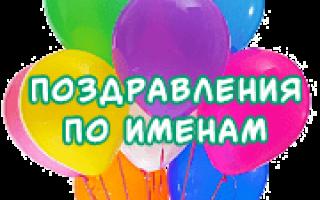 Поздравления с днём рождения мужчине именные