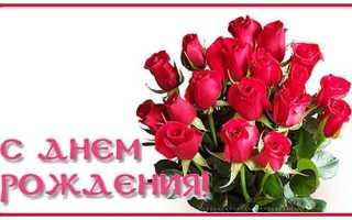 Большое поздравление с днём рождения