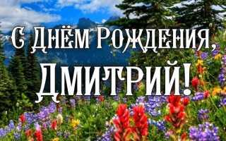 Поздравления другу дмитрию с днем рождения