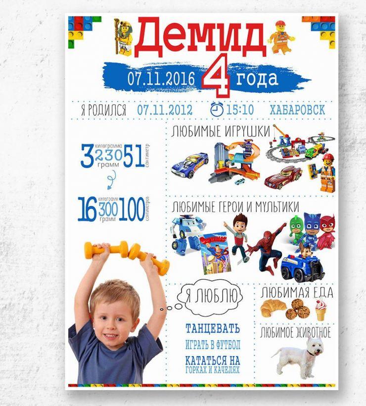 Плакат поздравление с днём рождения